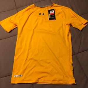 Men's Compression Under Armour Yellow Shirt